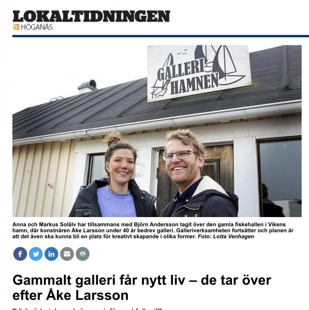 Skärmdump av artikel från Lokaltidningen